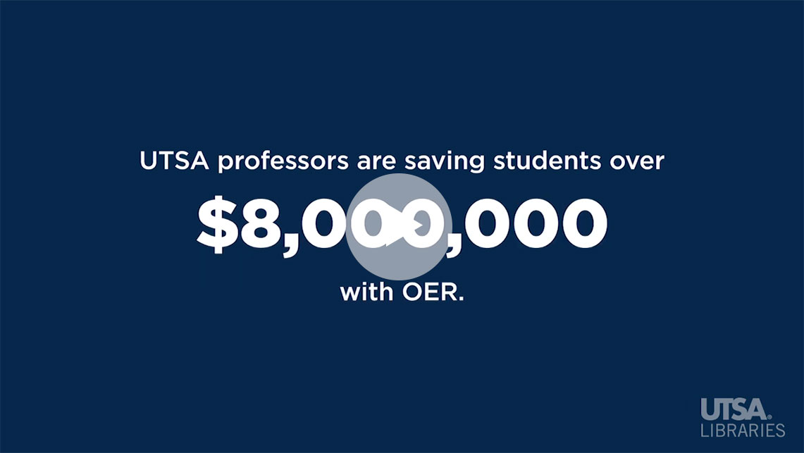 Video of OER Introduction on YouTube from a faculty perspective
